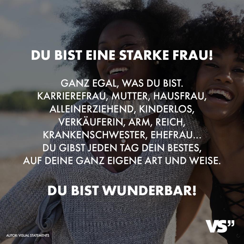 spruch-starke-frau - VISUAL STATEMENTS®