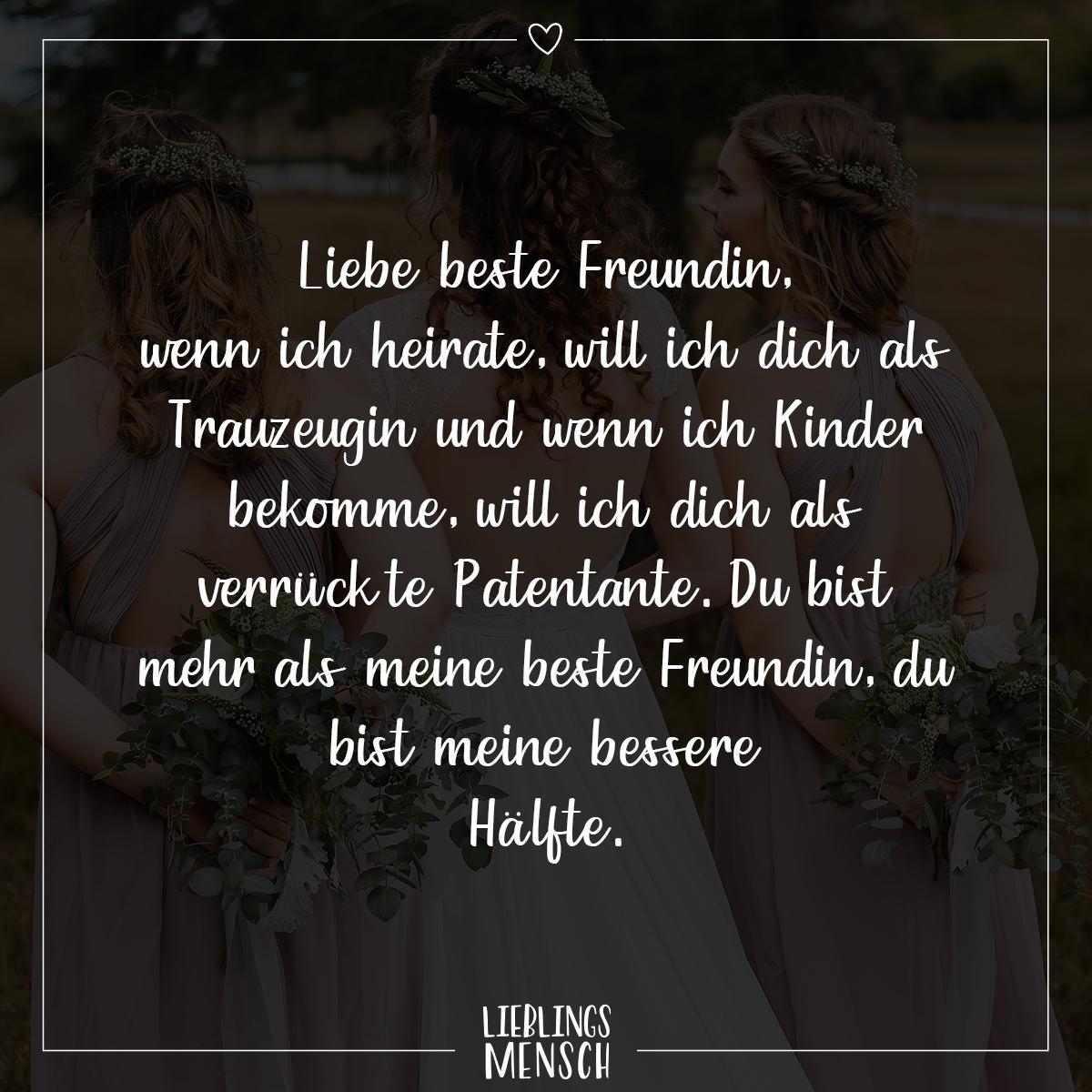 spruch liebe beste freundin - VISUAL STATEMENTS®