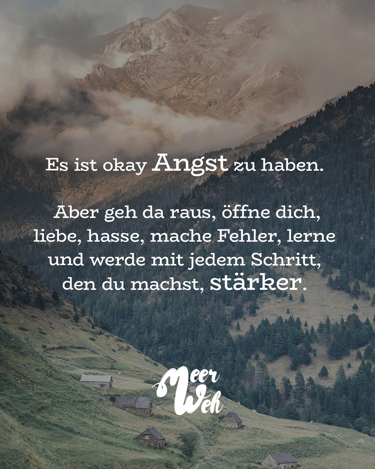 spruch angst okay - VISUAL STATEMENTS®